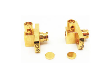 Female Right Angle SMP RF Connector Miniature 2 Holes Flanges Mount Design