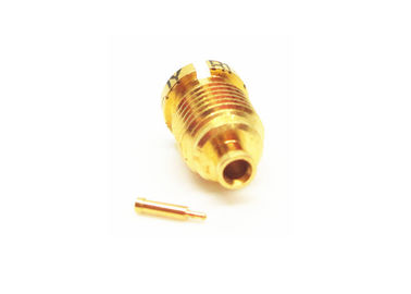 Gold Plated Mini SMP Connectors Blindmate Male Crimp Micro Coaxial Connector