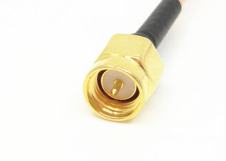 RG316 RF Cable Assemblies SMA Male To MMCX Male Right Angle Connector